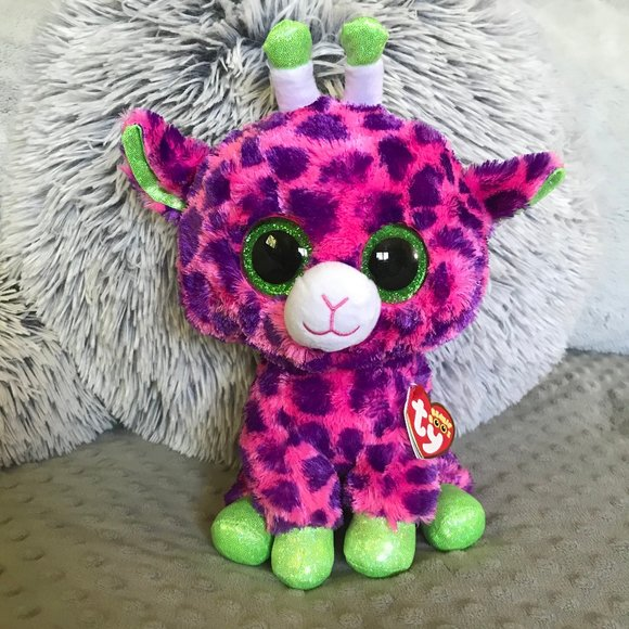 """TY BEANIE BOOS Gilbert the Giraffe 6/"""" Plush Stuffed Toy NWT Ships from the US"""